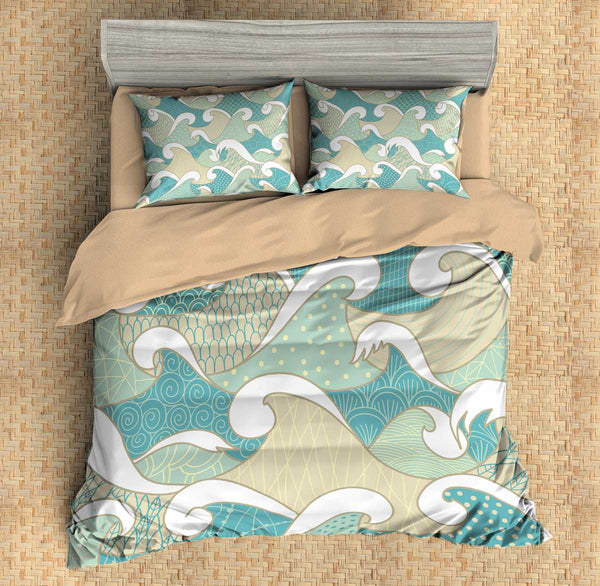 3D Customize Waves Bedding Set Duvet Cover Set Bedroom Set Bedlinen