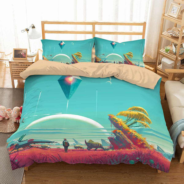 3D Customize No Man's Sky Bedding Set Duvet Cover Set Bedroom Set Bedlinen