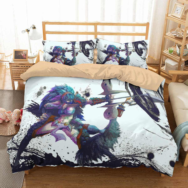 3D Customize Monster Hunter World Bedding Set Duvet Cover Set Bedroom Set Bedlinen