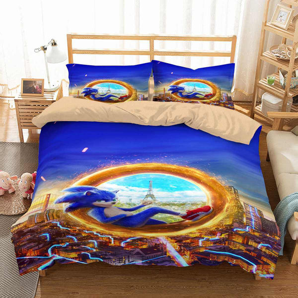 3D Customize Sonic the Hedgehog Bedding Set Duvet Cover Set Bedroom Set Bedlinen