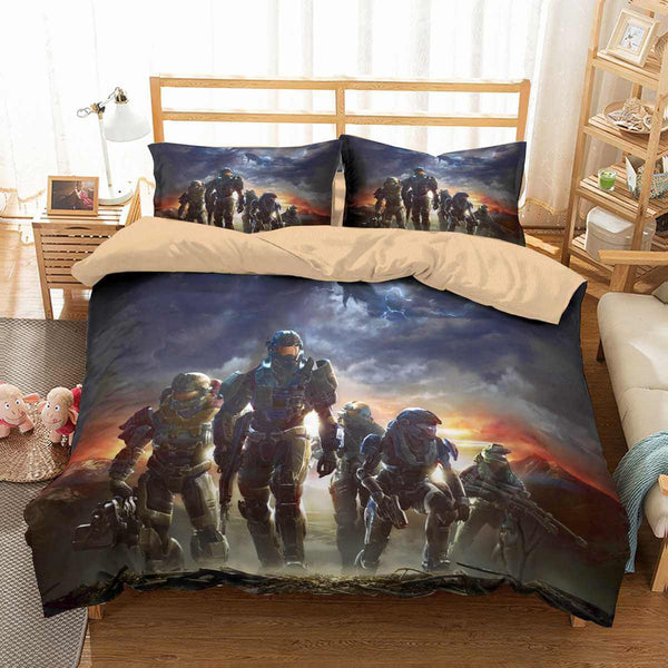 3D Customize Halo Bedding Set Duvet Cover Set Bedroom Set Bedlinen