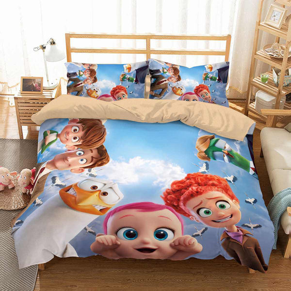 3D Customize Storks Bedding Set Duvet Cover Set Bedroom Set Bedlinen