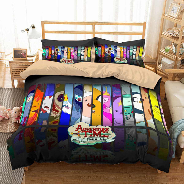 3D Customize Adventure Time Bedding Set Duvet Cover Set Bedroom Set Bedlinen - Three Lemons Hometextile