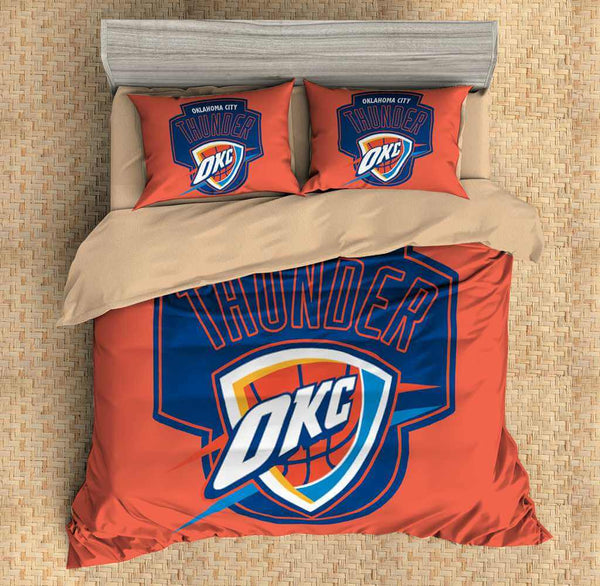 3D Customize Oklahoma City Thunder Bedding Set Duvet Cover Bedroom Bedlinen