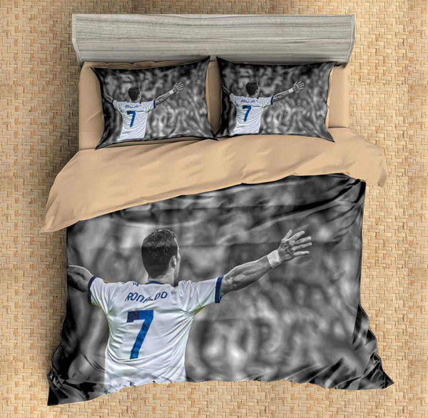 3D Customize Cristiano Ronaldo Bedding Set Duvet Cover Set Bedroom Set Bedlinen - Three Lemons Hometextile