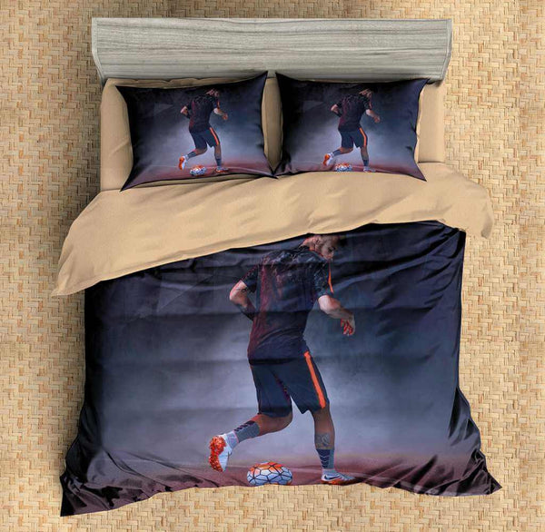 3D Customize Neymar Bedding Set Duvet Cover Set Bedroom Set Bedlinen - Three Lemons Hometextile