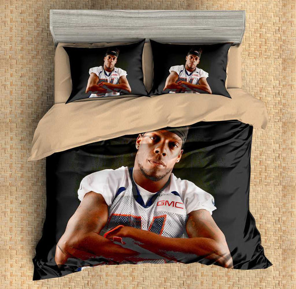 3D Customize Brandon Marshall Bedding Set Duvet Cover Set Bedroom Set Bedlinen - Three Lemons Hometextile