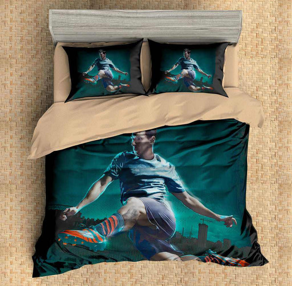 3D Customize Lionel Messi Bedding Set Duvet Cover Set Bedroom Set Bedlinen - Three Lemons Hometextile