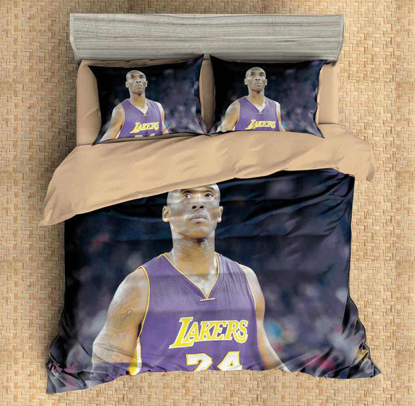 3D Customize Kobe Bryant Bedding Set Duvet Cover Set Bedroom Set Bedlinen - Three Lemons Hometextile