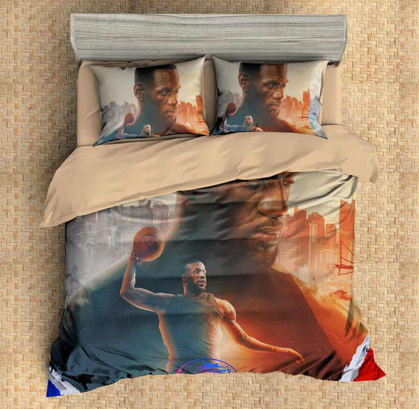 3D Customize Lebron James Bedding Set Duvet Cover Set Bedroom Set Bedlinen - Three Lemons Hometextile