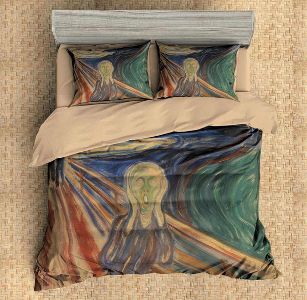 3D Customize The Scream Bedding Set Duvet Cover Set Bedroom Set Bedlinen - Three Lemons Hometextile