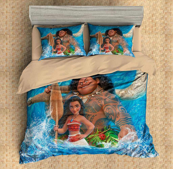 3D Customize Moana Bedding Set Duvet Cover Set Bedroom Set Bedlinen - Three Lemons Hometextile