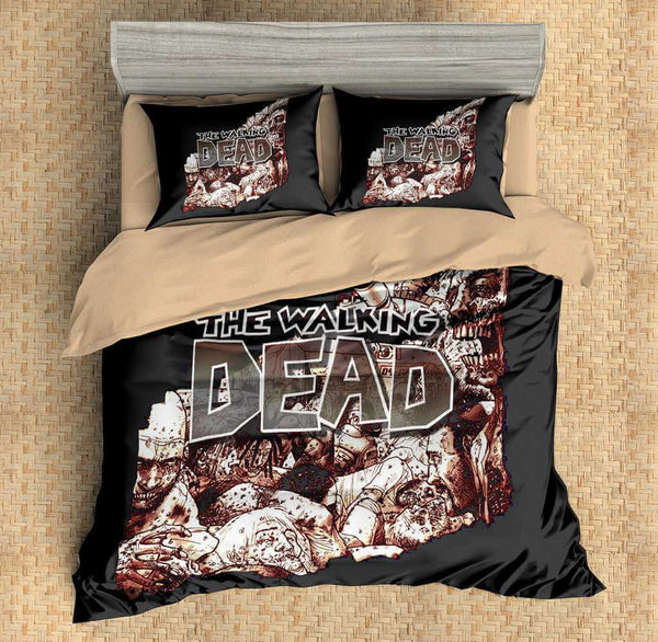 3D Customize The Walking Dead Bedding Set Duvet Cover Set Bedroom Set Bedlinen - Three Lemons Hometextile