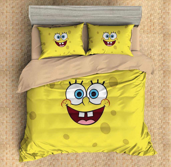 3D Customize SpongeBob SquarePants Bedding Set Duvet Cover Set Bedroom Set Bedlinen - Three Lemons Hometextile