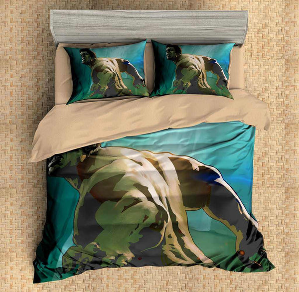 3D Customize Hulk Bedding Set Duvet Cover Set Bedroom Set Bedlinen - Three Lemons Hometextile