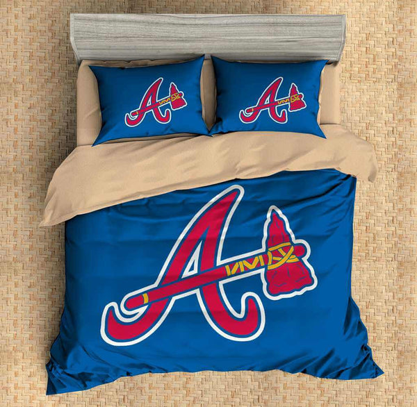 3D Customize Atlanta Braves Bedding Set Duvet Cover Set Bedroom Set Bedlinen - Three Lemons Hometextile