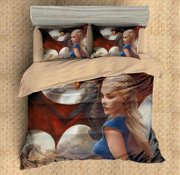 3D Customize Daenerys Targaryen Game of Thrones Bedding Set Duvet Cover Set Bedroom Set Bedlinen
