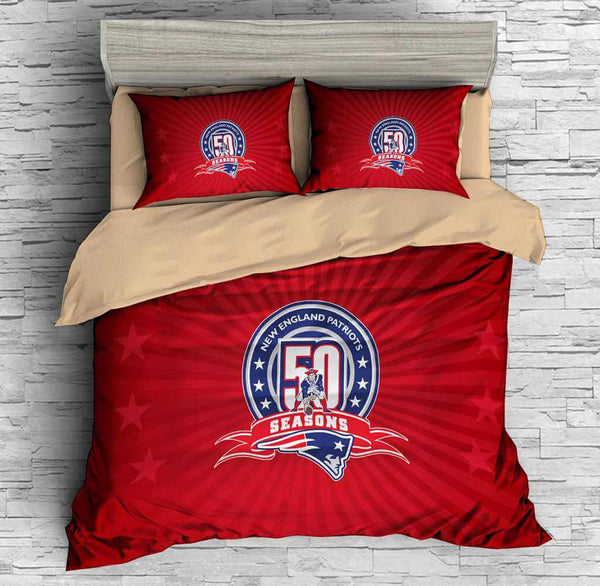 3D Customize New England Patriots Bedding Set Duvet Cover Set Bedroom Set Bedlinen