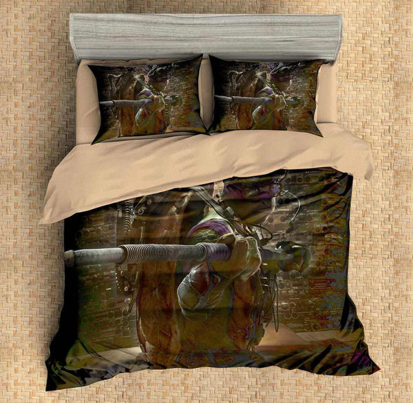 Customize Ninja Turtles Donatello Duvet Cover Set 4PCS Bedding Set Bedlinen Sheet Pillowcases - Three Lemons Hometextile