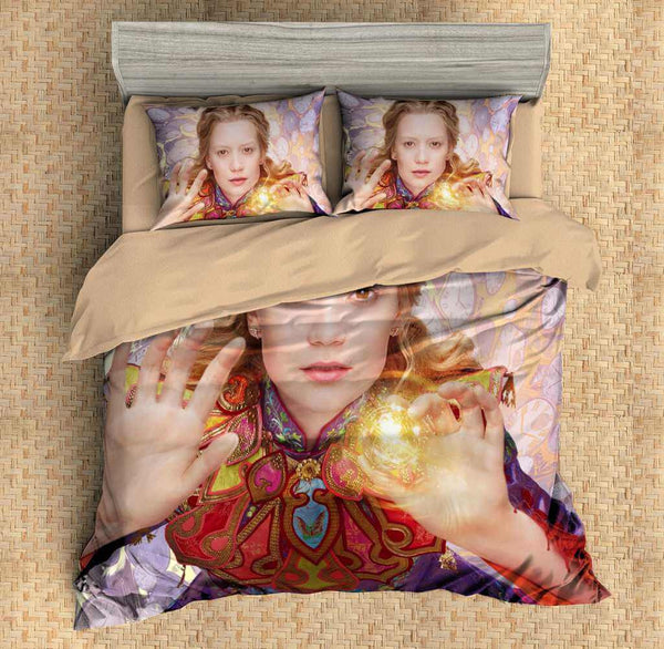 Customize Alice in Wonderland Duvet Cover Set 4PCS Bedding Set Bedlinen Sheet Pillowcases - Three Lemons Hometextile