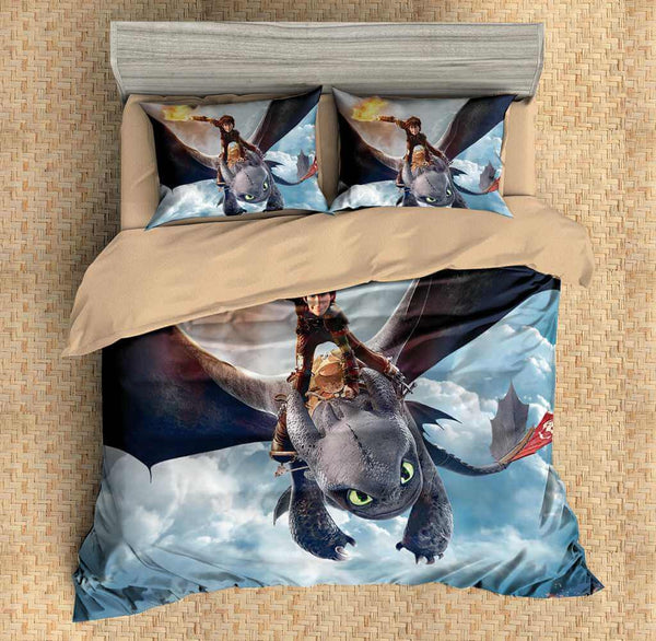 Customize How to Train Your Dragon Duvet Cover Set Bedding Set Bedroom Set Bedlinen - Three Lemons Hometextile