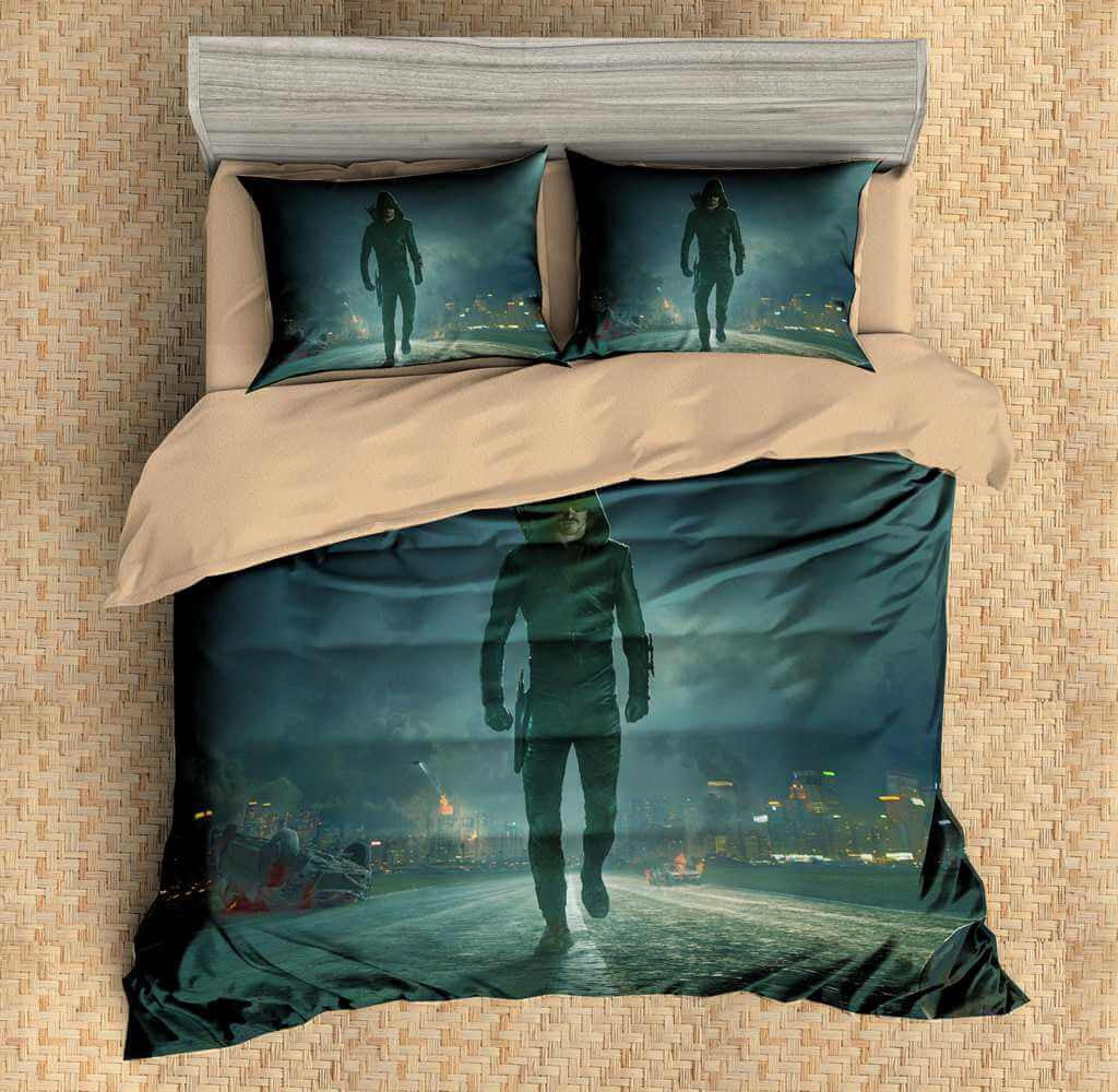 Green Arrow Bedding