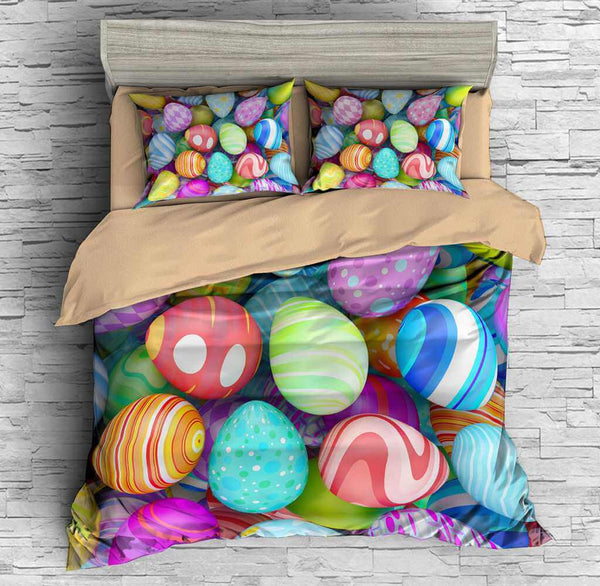 3D Customize Easter Eggs Bedding Set Duvet Cover Set Bedroom Set Bedlinen