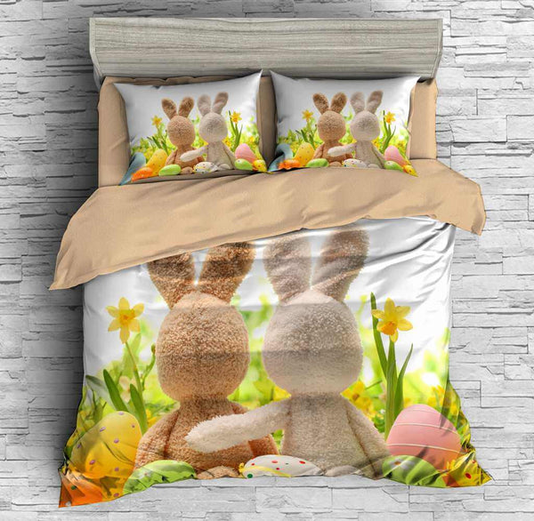 3D Customize Easter Bunny Bedding Set Duvet Cover Set Bedroom Set Bedlinen