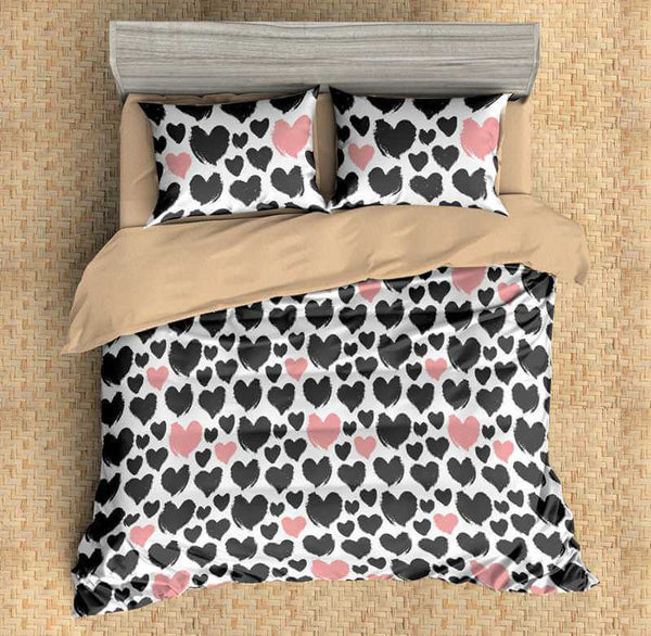 3D Customize Love Bedding Set Duvet Cover Set Bedroom Set Bedlinen - Three Lemons Hometextile