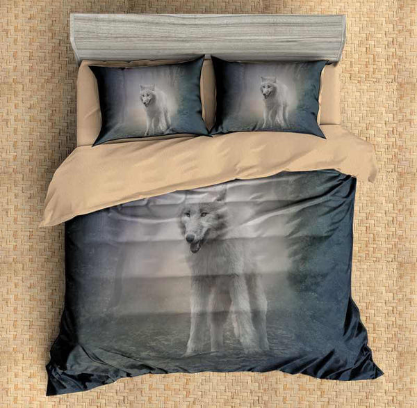 3D Customize Wolf Bedding Set Duvet Cover Set Bedroom Set Bedlinen - Three Lemons Hometextile