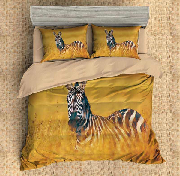 3D Customize Zebra Bedding Set Duvet Cover Set Bedroom Set Bedlinen - Three Lemons Hometextile