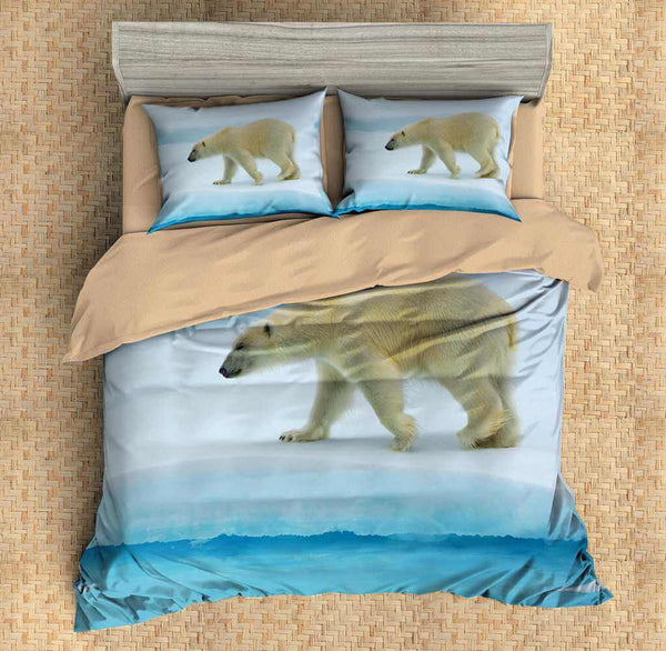 3D Customize Polar Bear Bedding Set Duvet Cover Set Bedroom Set Bedlinen - Three Lemons Hometextile