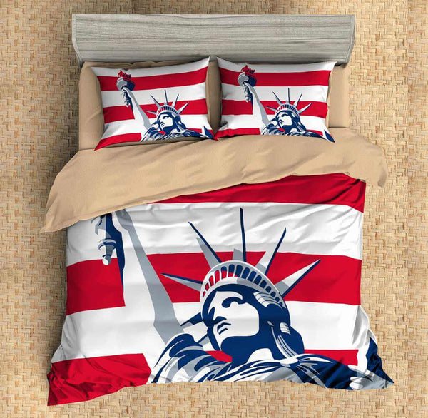 3D Customize Statue of Liberty Bedding Set Duvet Cover Set Bedroom Set Bedlinen