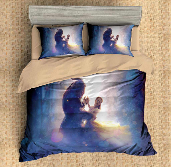 3D Customize Beauty and the Beast Bedding Set Duvet Cover Set Bedroom Set Bedlinen - Three Lemons Hometextile