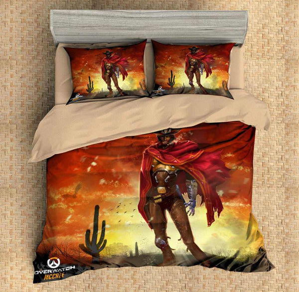 3D Customize Overwatch Mccree Bedding Set Duvet Cover Set Bedroom Set Bedlinen - Three Lemons Hometextile
