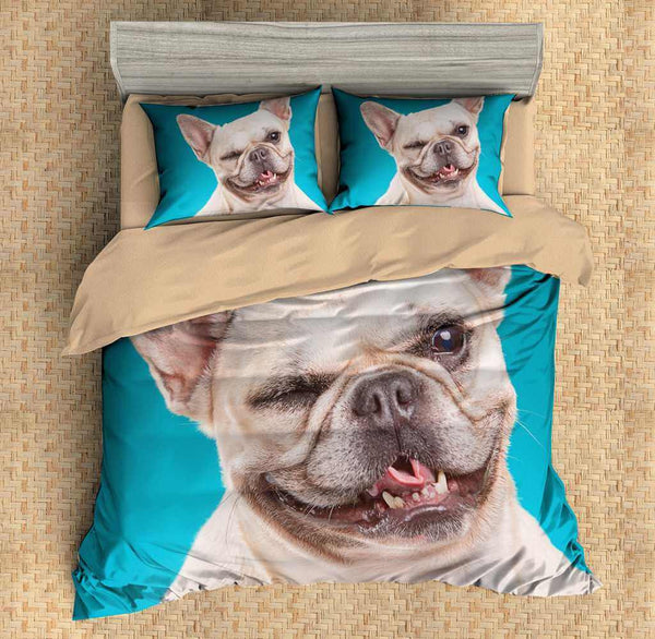 3D Customize French Bulldog Bedding Set Duvet Cover Set Bedroom Set Bedlinen - Three Lemons Hometextile