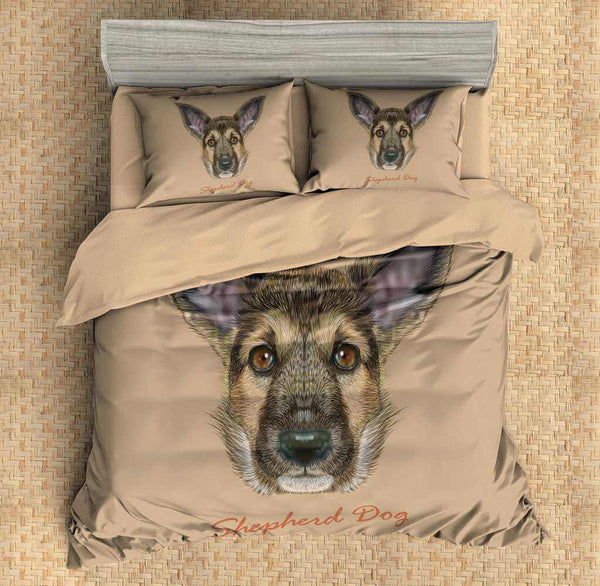 3D Customize Shepherd Dog Bedding Set Duvet Cover Set Bedroom Set Bedlinen - Three Lemons Hometextile