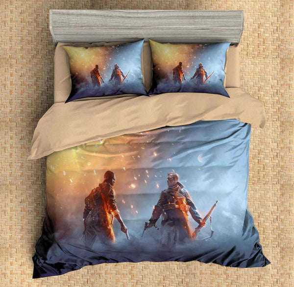 3D Customize Battlefield 1 Bedding Set Duvet Cover Set Bedroom Set Bedlinen - Three Lemons Hometextile