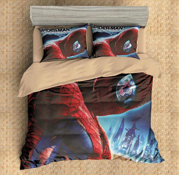 Customize Spider Man Duvet Cover Set Bedding Set Bedroom Set Bedlinen - Three Lemons Hometextile