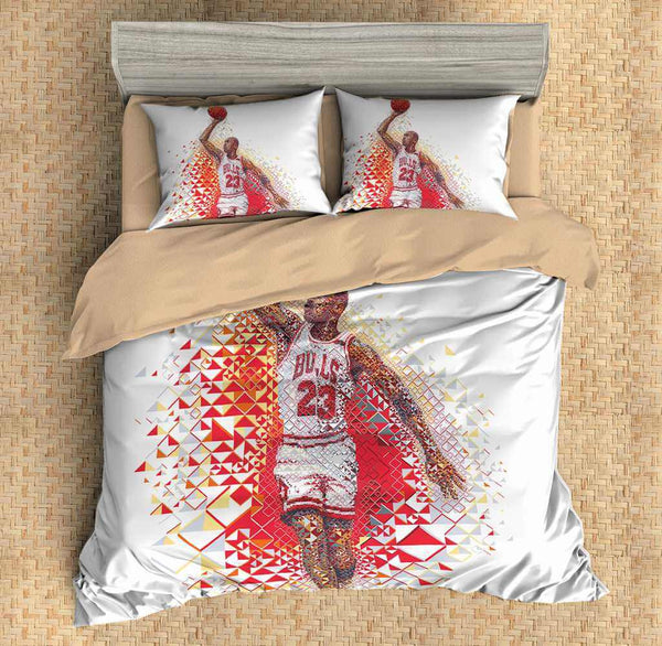 3D Customize Michael Jordan Bedding Set Duvet Cover Set Bedroom Set Bedlinen - Three Lemons Hometextile