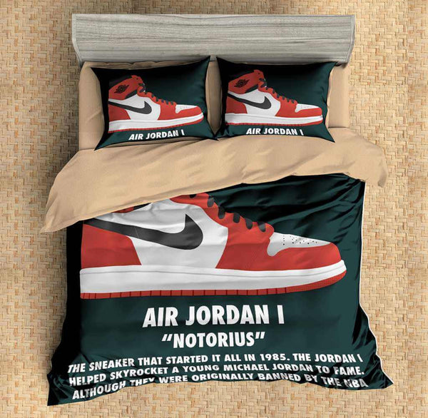 3D Customize The Jordan Shoes Bedding Set Duvet Cover Set Bedroom Set Bedlinen - Three Lemons Hometextile