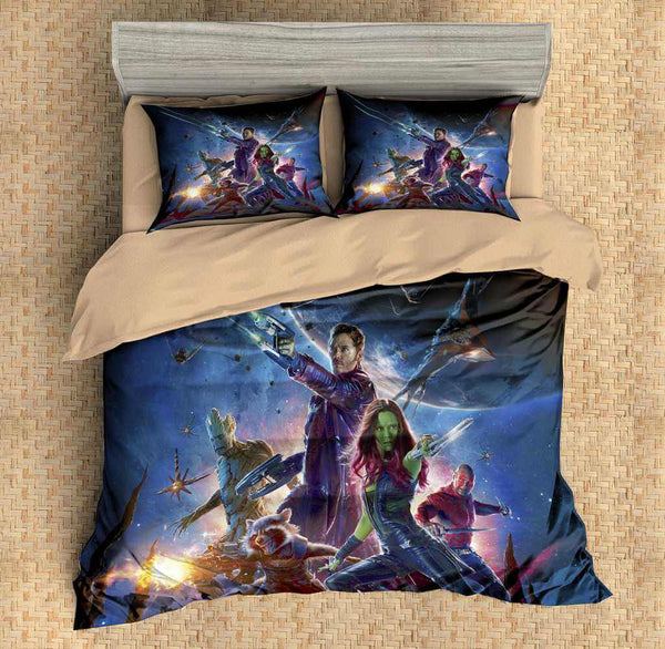 3D Customize Guardians of the Galaxy Bedding Set Duvet Cover Set Bedroom Set Bedlinen - Three Lemons Hometextile