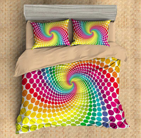 3D Customize Rainbow Bedding Set Duvet Cover Set Bedroom Set Bedlinen - Three Lemons Hometextile