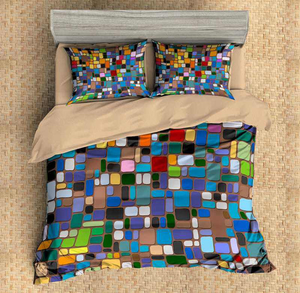 3D Customize Mosaic Bedding Set Duvet Cover Set Bedroom Set Bedlinen - Three Lemons Hometextile