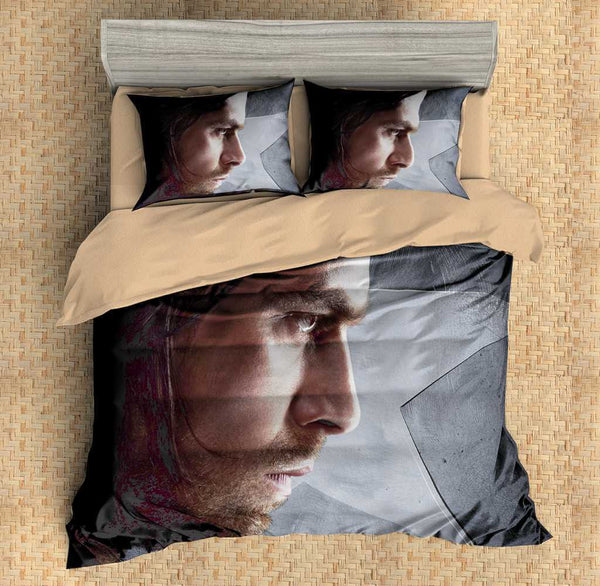 3D Customize Winter Soldier Bedding Set Duvet Cover Set Bedroom Set Bedlinen - Three Lemons Hometextile