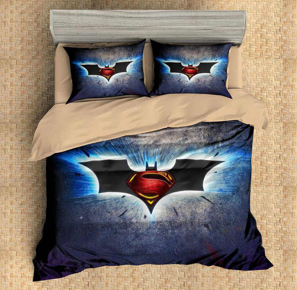 3D Customize Batman Vs Superman Bedding Set Duvet Cover Set Bedroom Set  Bedlinen   Three Lemons