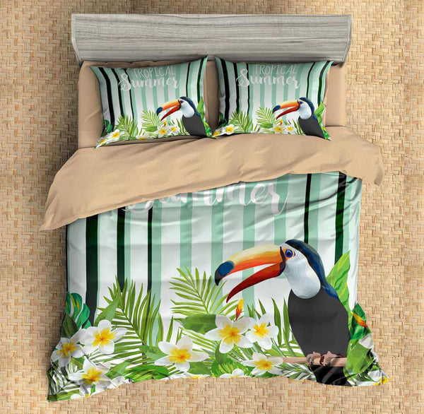 3D Customize Toucan Bedding Set Duvet Cover Set Bedroom Set Bedlinen - Three Lemons Hometextile