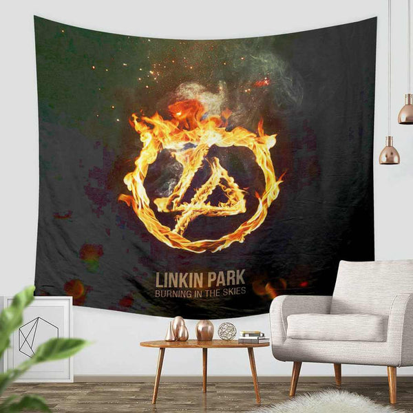 3D Custom Linkin Park Tapestry Throw Wall Hanging Bedspread - Three Lemons Hometextile