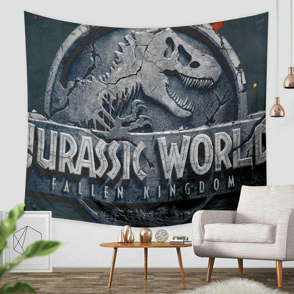 3D Custom Jurassic World Tapestry Throw Wall Hanging Bedspread - Three Lemons Hometextile