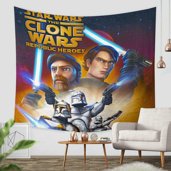 3D Custom Star Wars The Clone Wars Tapestry Throw Wall Hanging Bedspread - Three Lemons Hometextile